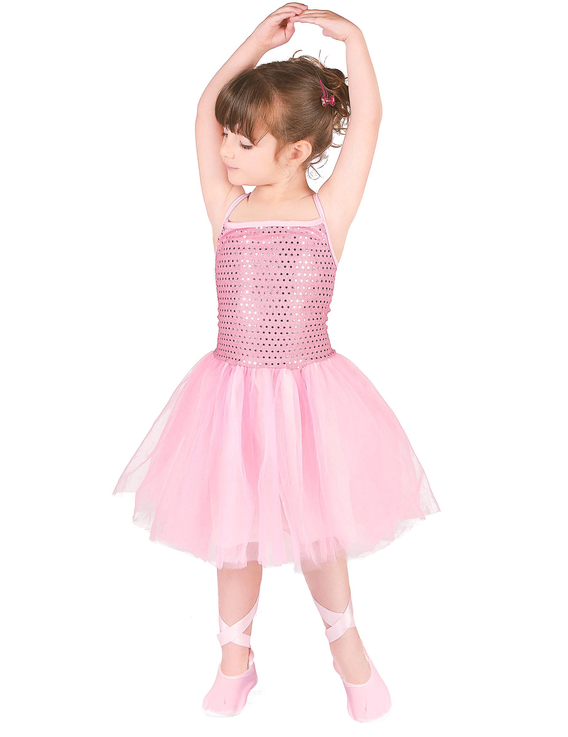 Ballerina-Mädchenkostüm Tänzerin Rosa serapportantà Etoil Clown