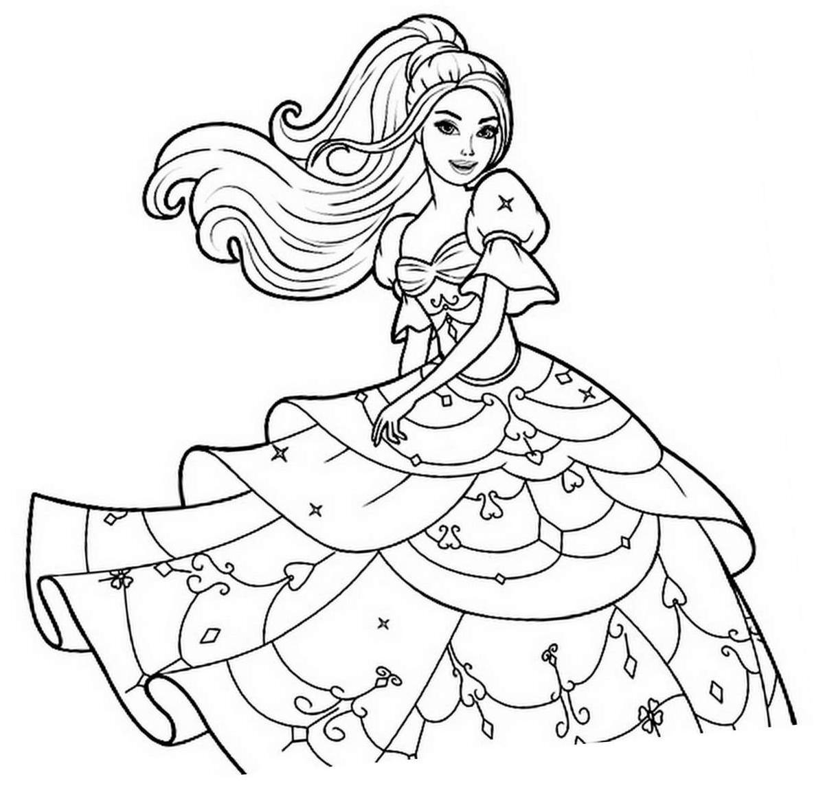 Barbie #62 (Dessins Animés) – Coloriages À Imprimer destiné Imprimer Barbie