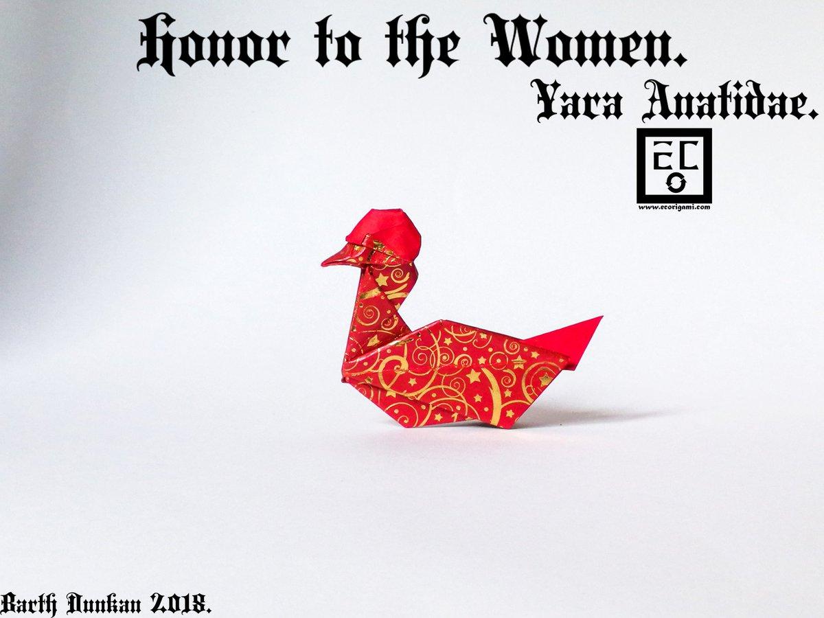 "Barth Dunkan On Twitter: ""honor To The Women Yara Anatidae encequiconcerne Origami Canard"
