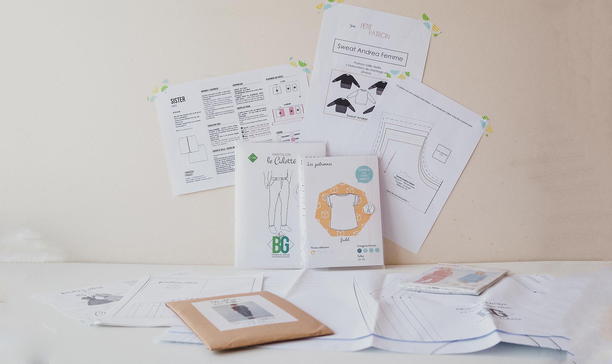 Battle : Patron Papier Vs Patron Pdf - Couture Débutant destiné Patron De Maison En Papier A Imprimer