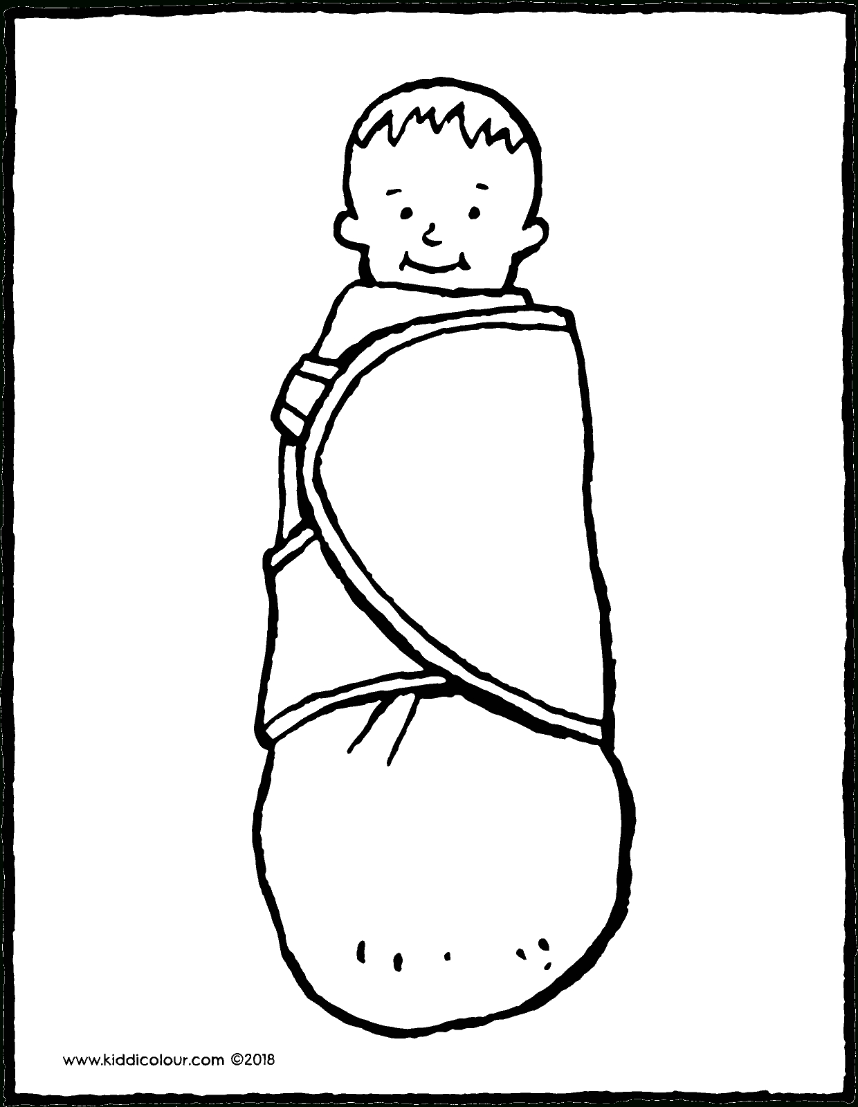 Bébé Emmailloté - Kiddicoloriage encequiconcerne Dessin Mappemonde