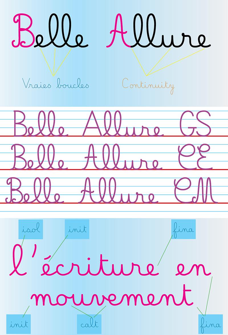 Belle Allure Font | Dafont | Écriture Ce1, Police intérieur Police Script Ecole