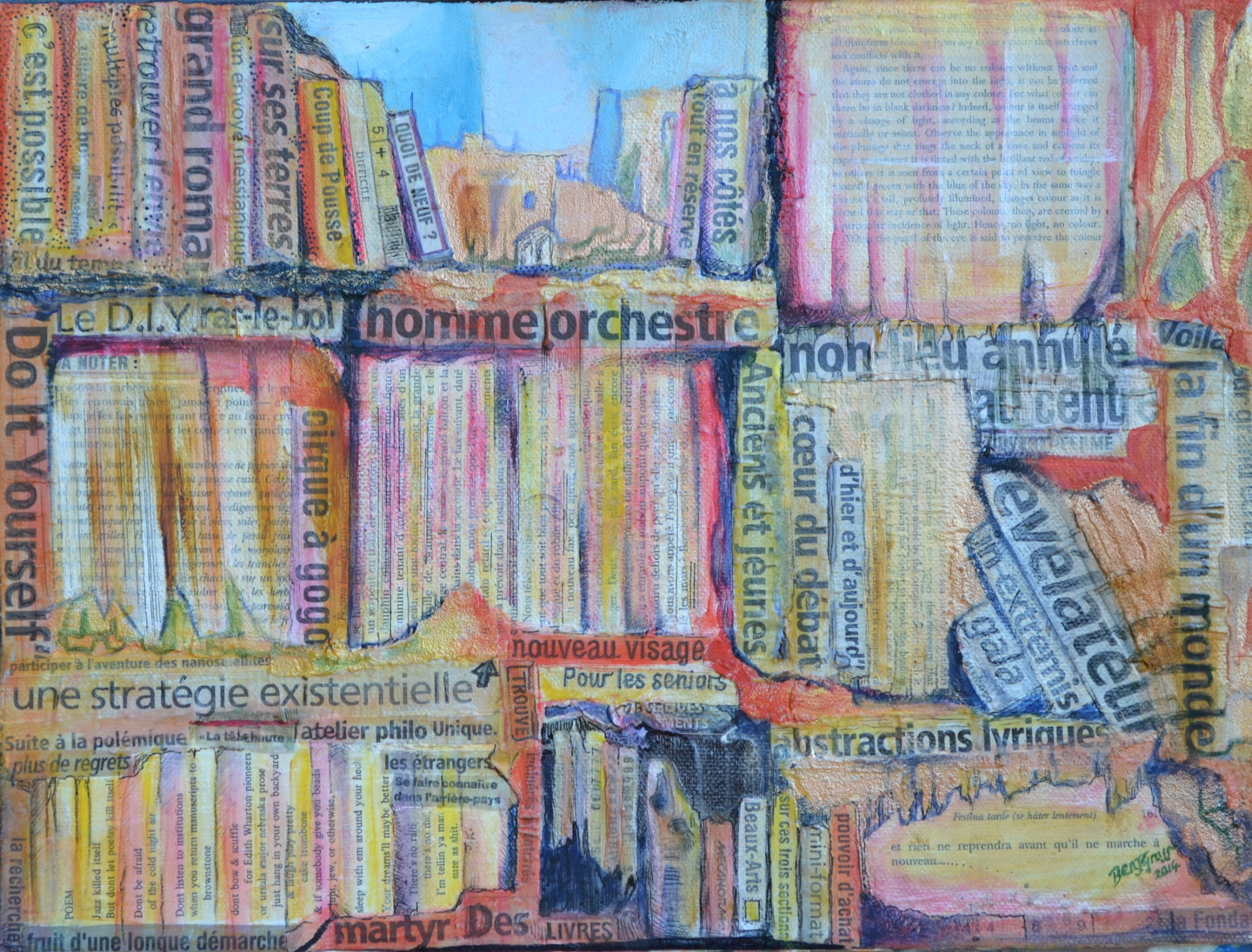 Biblio-Labyrinthe #2 (Abstractions Lyriques) Painting By Ben avec Labyrinthe Difficile
