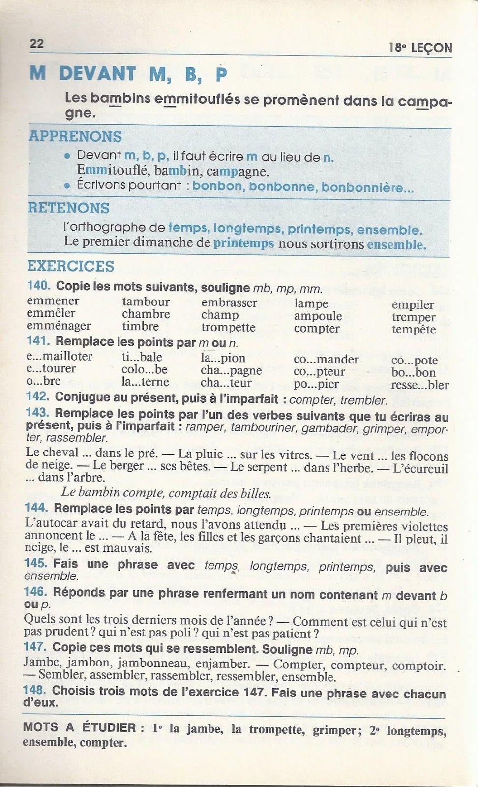 Bled, Premières Leçons D'orthographe Ce (1985) : Grandes pour Grimper En Anglais