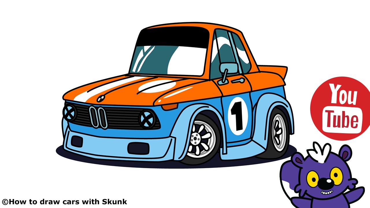 Bmw 2002 Racing Car Cartoon Version By Skunk (Avec Images) encequiconcerne La Voiture De Course Dessin Animé