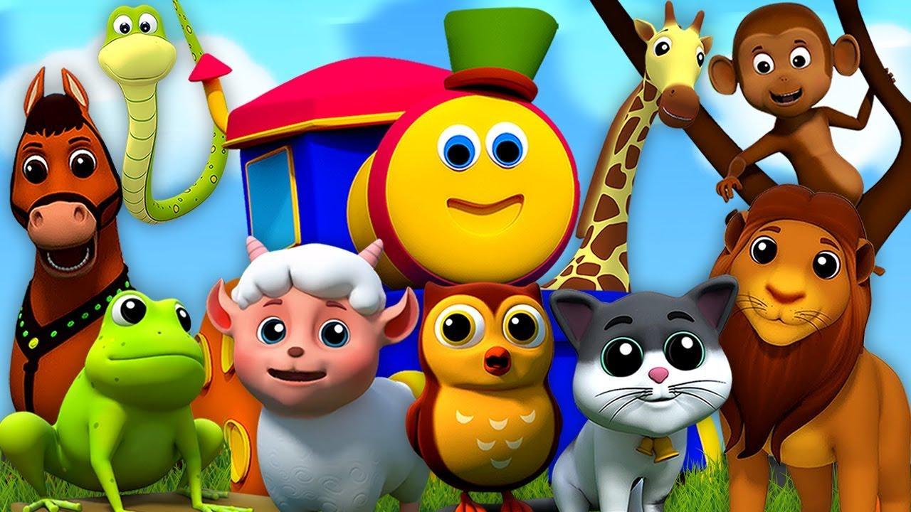 Bob Le Train | Sons D'animaux Pour Enfants | Apprendre Les Animaux | Bob  Animals Sound Song intérieur Apprendre Les Animaux Pour Bebe