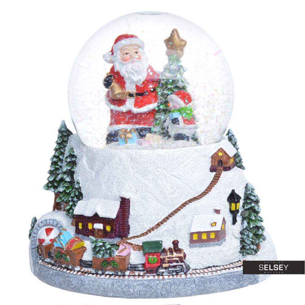 Boîte À Musique Avec Boule À Neige Père Noël Près D'Un Sapin avec Musique Du Père Noël