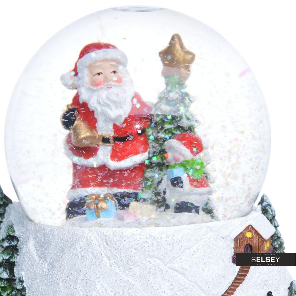 Boîte À Musique Avec Boule À Neige Père Noël Près D'Un Sapin destiné Musique Du Père Noël