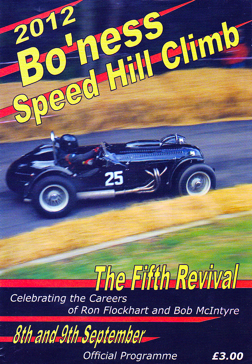 Bo'ness Hill Climb | The Motor Racing Programme Covers Project encequiconcerne Bo Programmes 2012