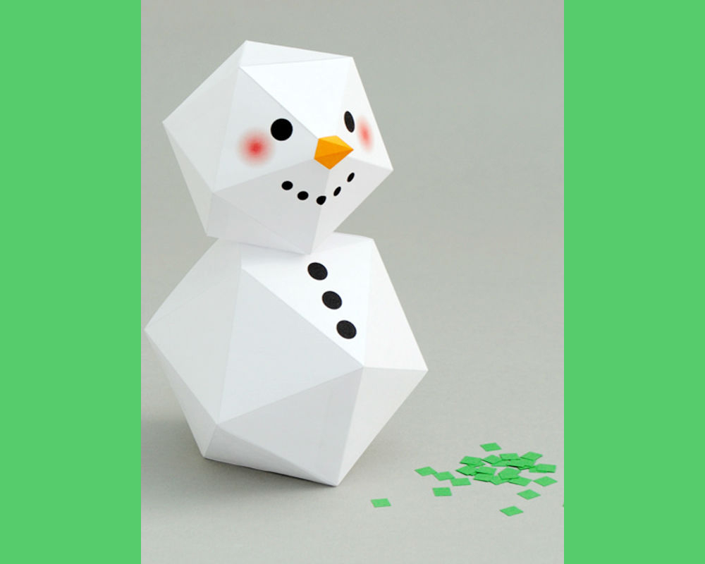 Bonhomme De Neige Géométrique - Momes encequiconcerne Origami Bonhomme De Neige