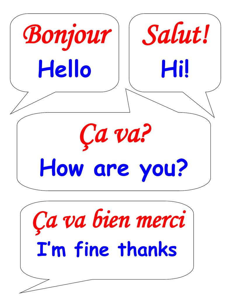 Bonjour Salut! Ça Va? Ça Va Bien Merci concernant Bonjour Monsieur Comment Ca Va
