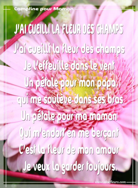 Bonne Fête Maman: Poèmes Ou Messages D'amour, Citations Ou dedans Poeme Les Fleurs