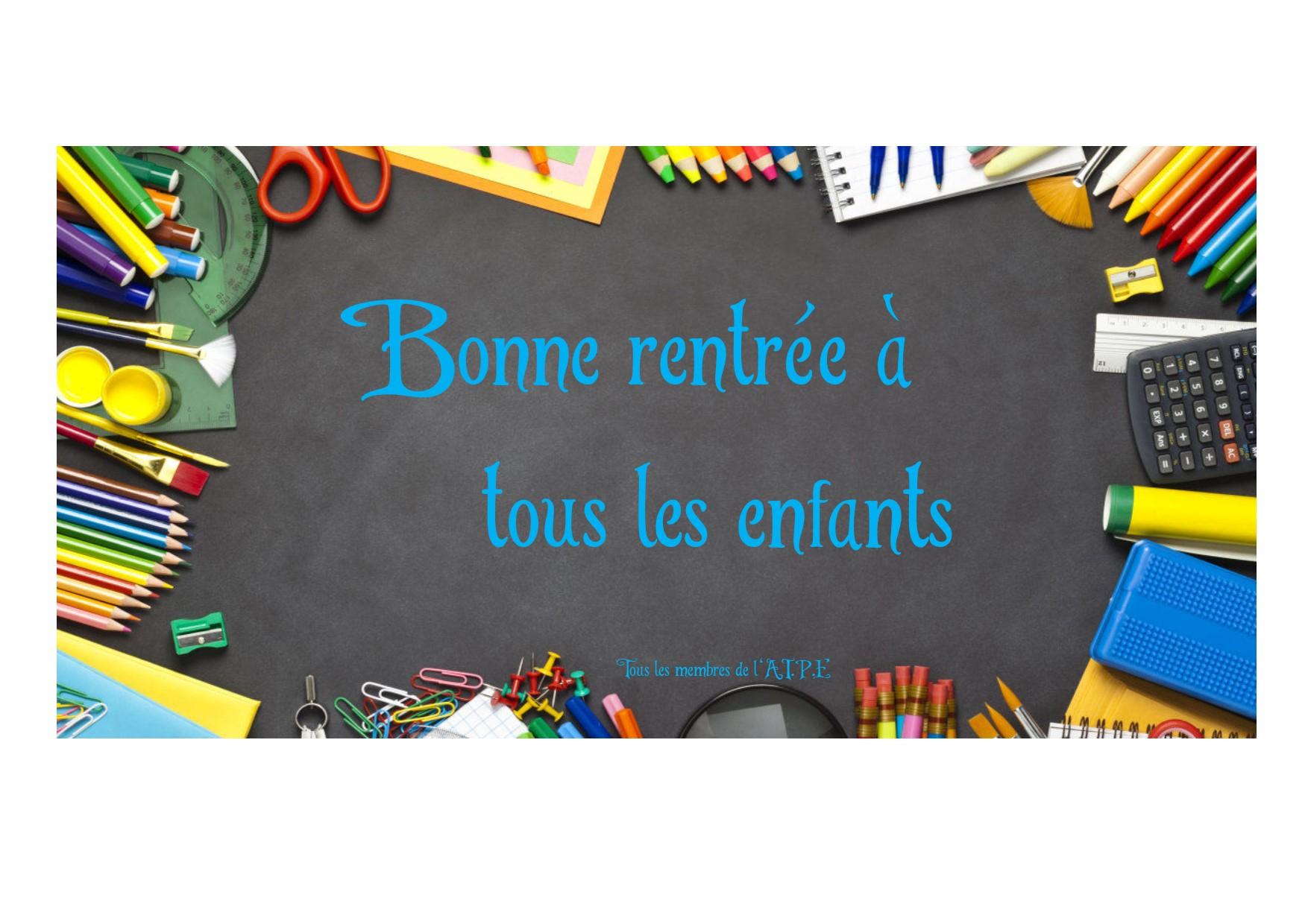 Bonne Rentrée ! - Aipe Association Indépendante Des Parents intérieur Image Bonne Rentrée Des Classes