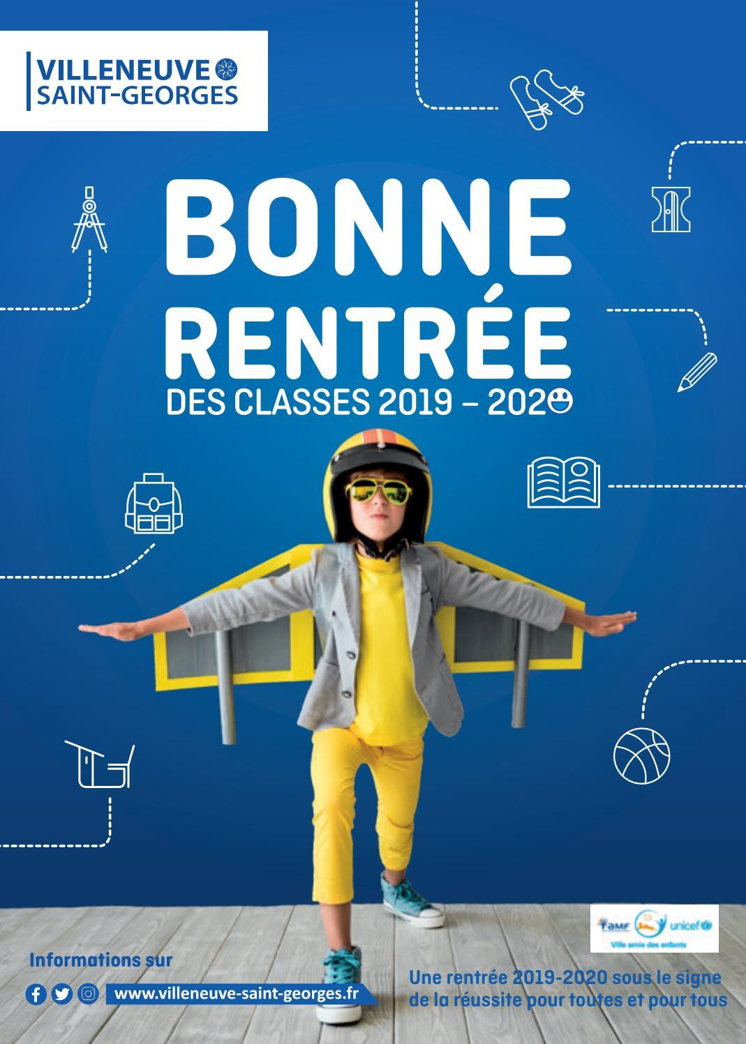 Bonne Rentrée Des Classes 2019-2020 By Ville De Villeneuve avec Image Bonne Rentrée Des Classes