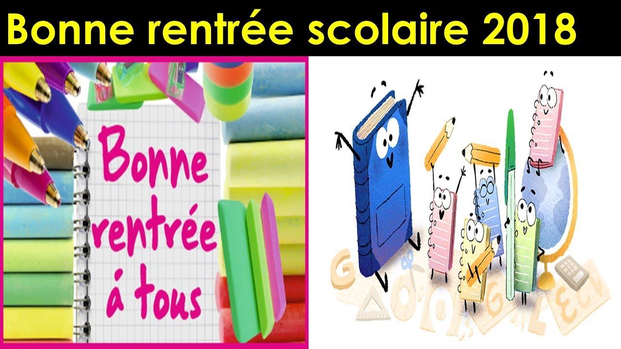 Bonne Rentrée Scolaire 2018 , Rentrée Scolaire France Google avec Image Bonne Rentrée Des Classes