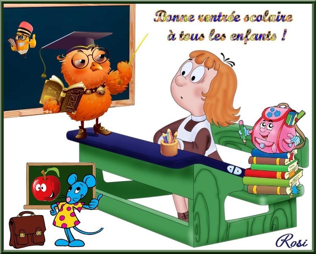 Bonne Rentrée Scolaire A Tous Les Enfants dedans Image Bonne Rentrée Des Classes