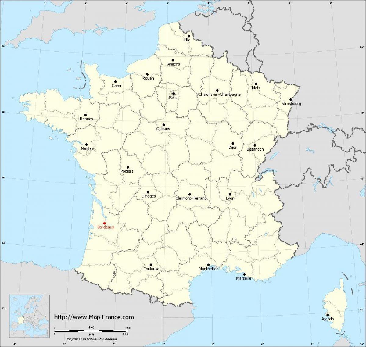 Bordeaux Region Map - Bordeaux Municipalities Map (Nouvelle serapportantà Nouvelle Region France