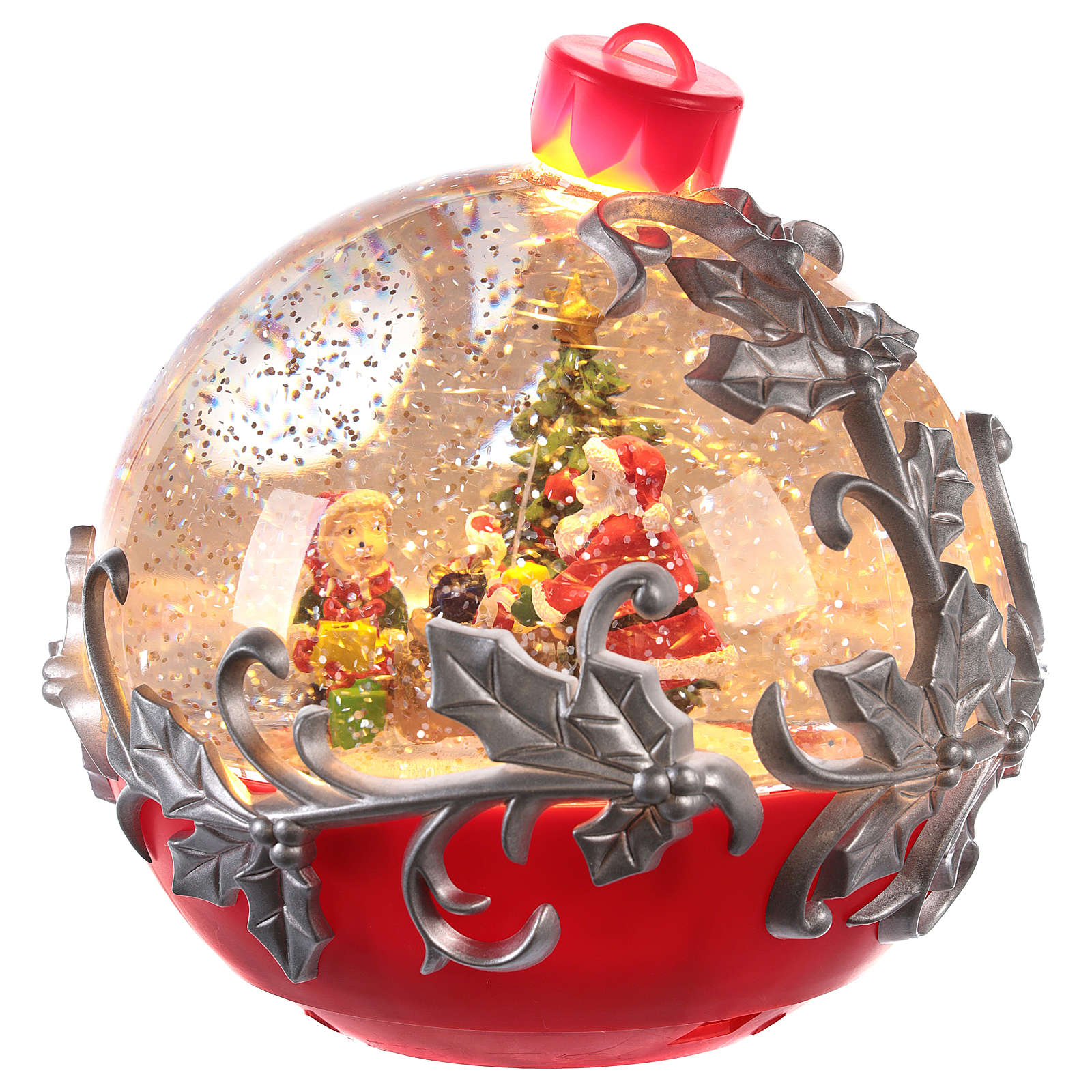 Boule À Neige Avec Père Noël Sur Son Traîneau 15X15 Cm concernant Image Du Pere Noel Et Son Traineau