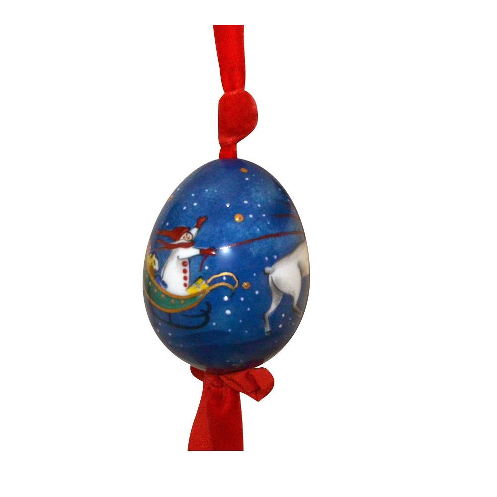 Boule De Noël En Porcelaine Traîneau Du Père Noël Laure Selignac dedans Image De Traineau Du Pere Noel