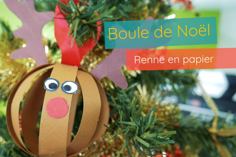Boule De Noël Renne Pour Les Petits concernant Bricolage De Noel Pour Maternelle