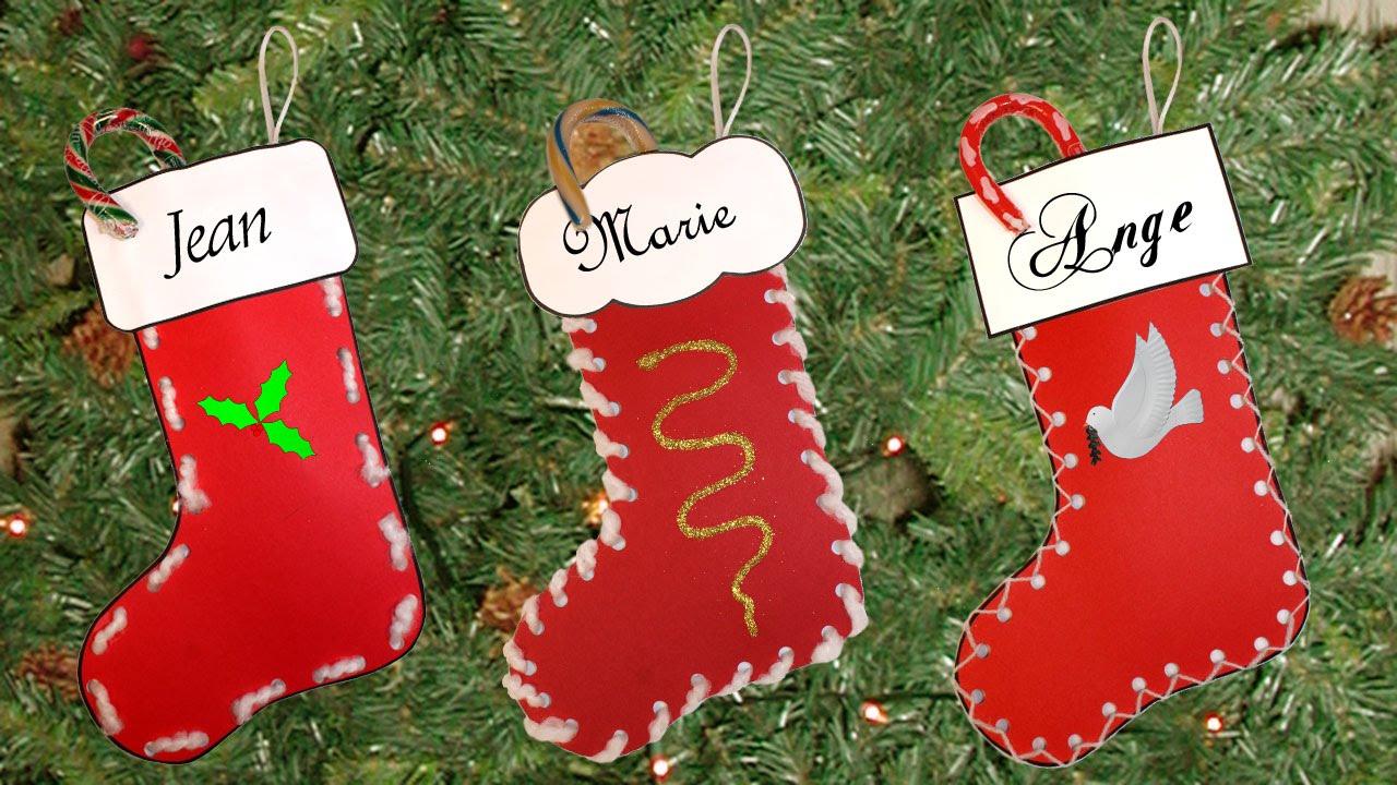 Bricolage Bas De Noël À Imprimer destiné Bricolage De Noel Pour Maternelle