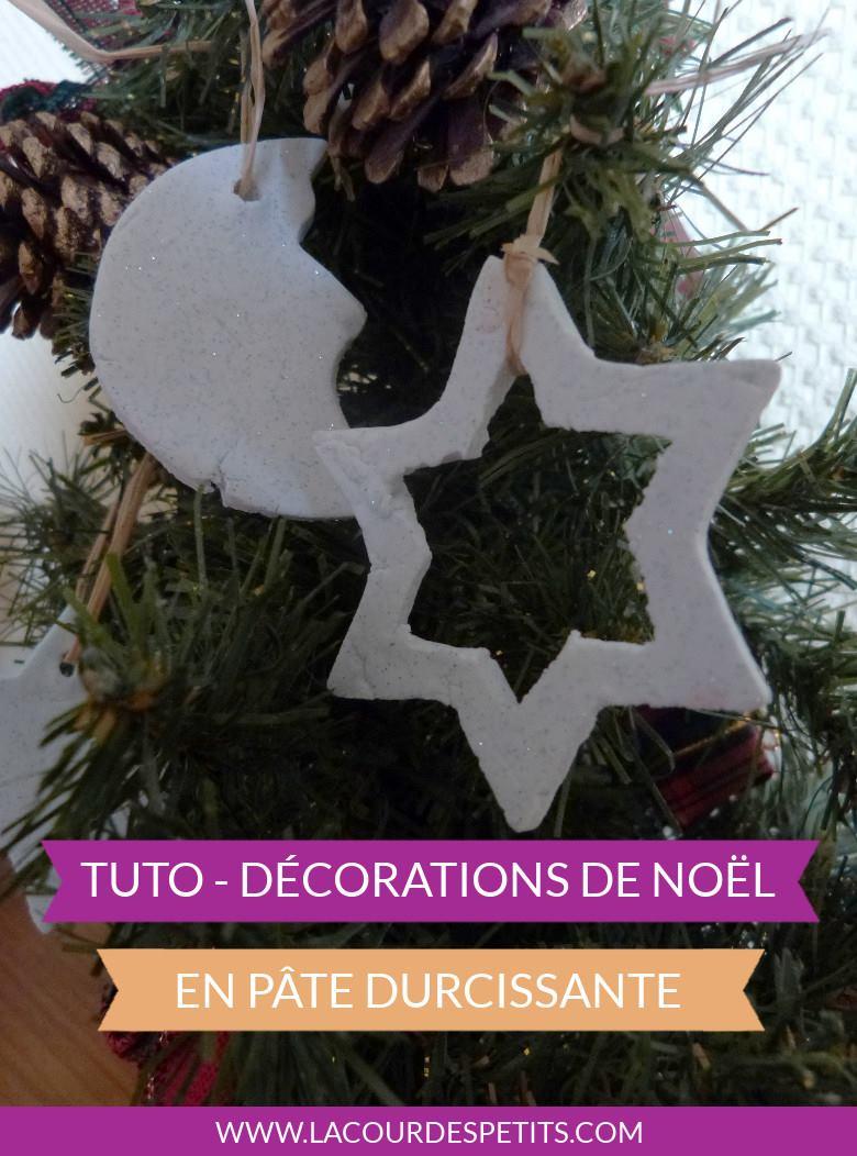 Bricolage De Noël : Décorations En Pâte Durcissante |La Cour serapportantà Bricolage De Noel Pour Maternelle