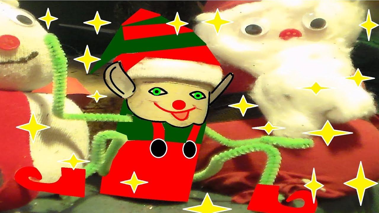 Bricolage De Noël En Papier Pour Maternelle Cp Ce1 Ce2 : Un Lutin avec Bricolage Cp Noel