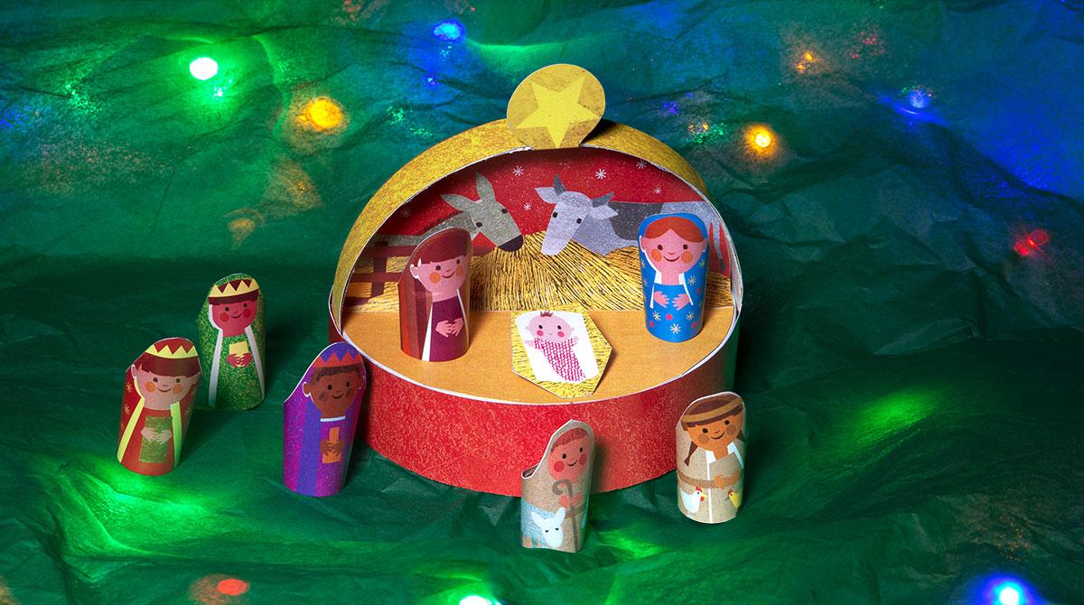 Bricolage De Noël : Fabriquez Une Crèche Avec Votre Enfant encequiconcerne Bricolage De Noel Pour Maternelle