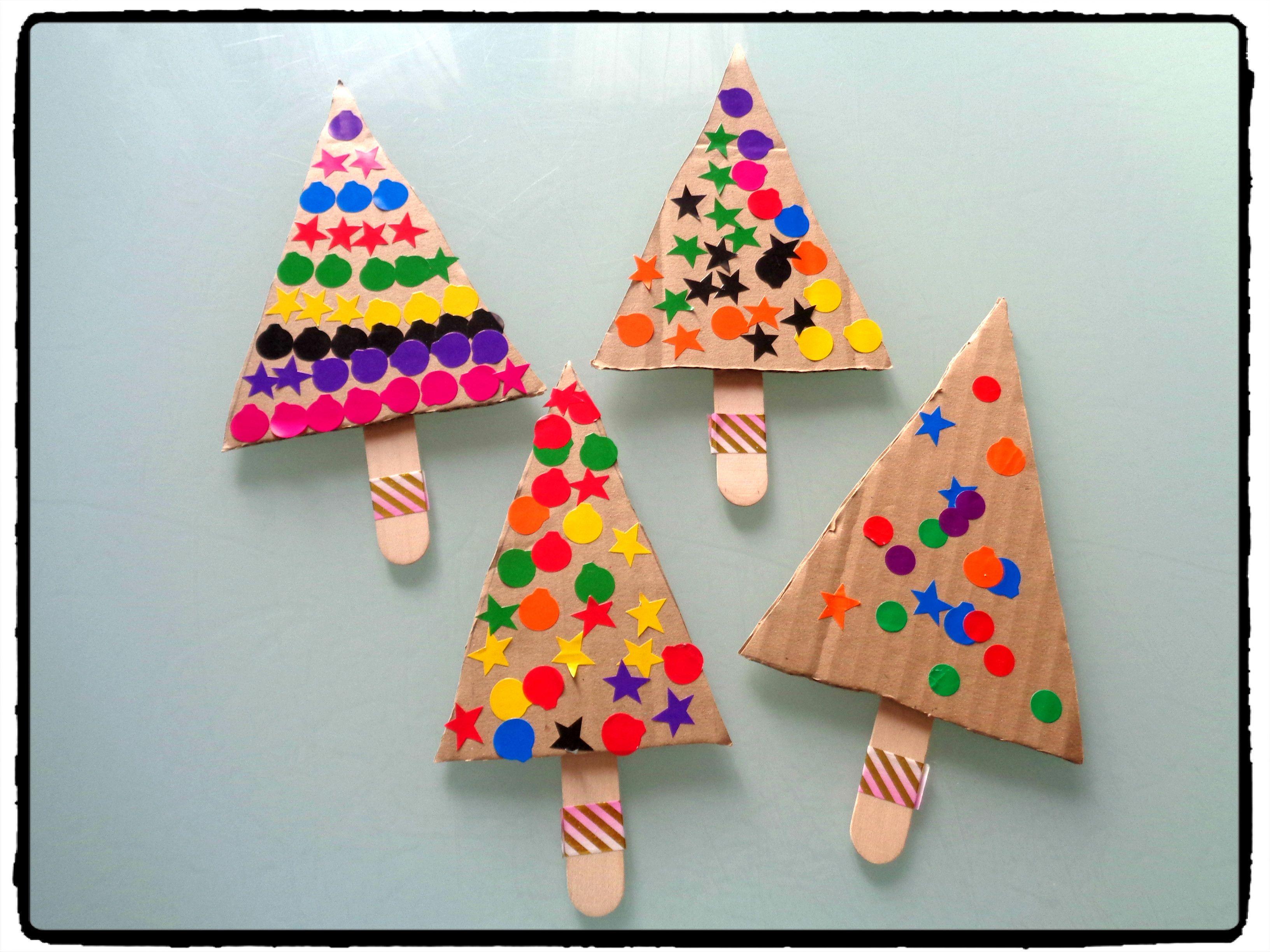 Bricolage De Noël Pour Enfants : Des Sapins Pour Les Petites pour Bricolage De Noel Pour Maternelle