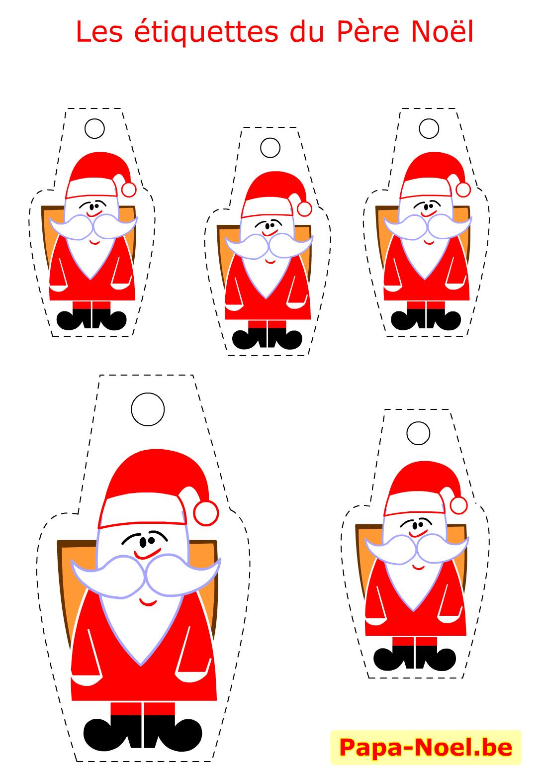 Bricolage Enfant Pere Noel Etiquettes A Imprimer Gratuites pour Etiquette Noel A Imprimer