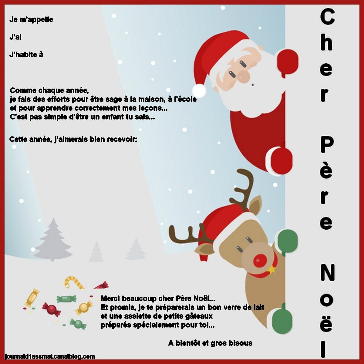 Bricolage: La Lettre Au Père Noël - Le Quotidien D'une tout Reponse Lettre Du Pere Noel A Imprimer