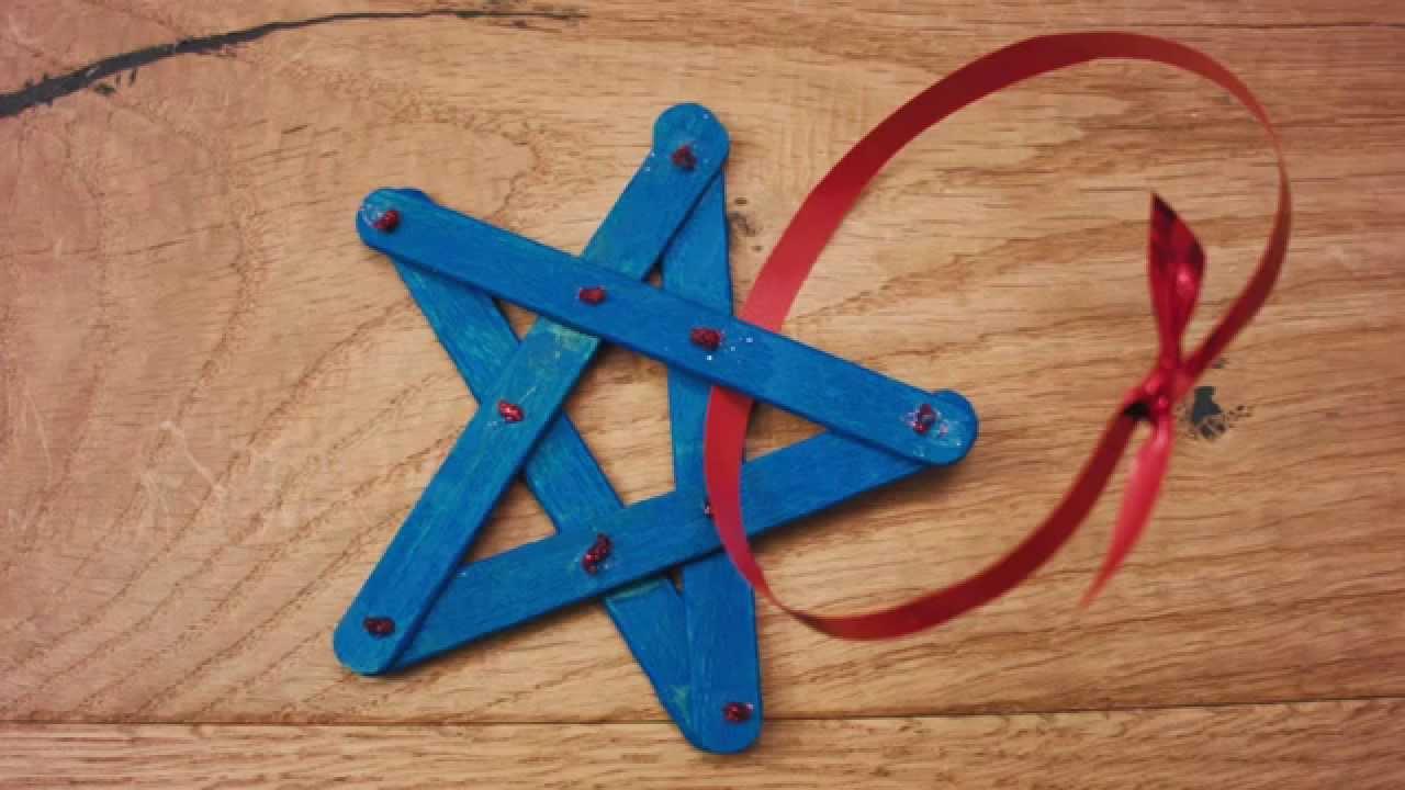 Bricolage - L'étoile pour Bricolage Avec Baton De Bois