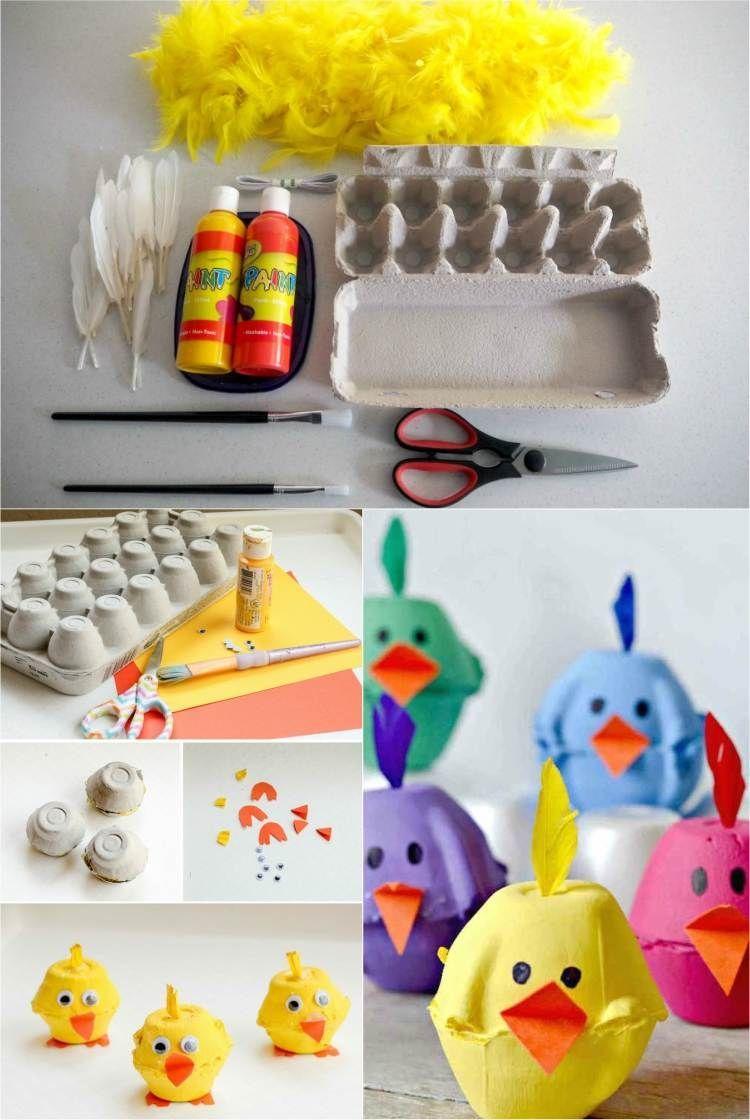 Bricolage Pâques Maternelle – 10 Idées Amusantes En 2020 intérieur Bricolage Pour Paques Maternelle