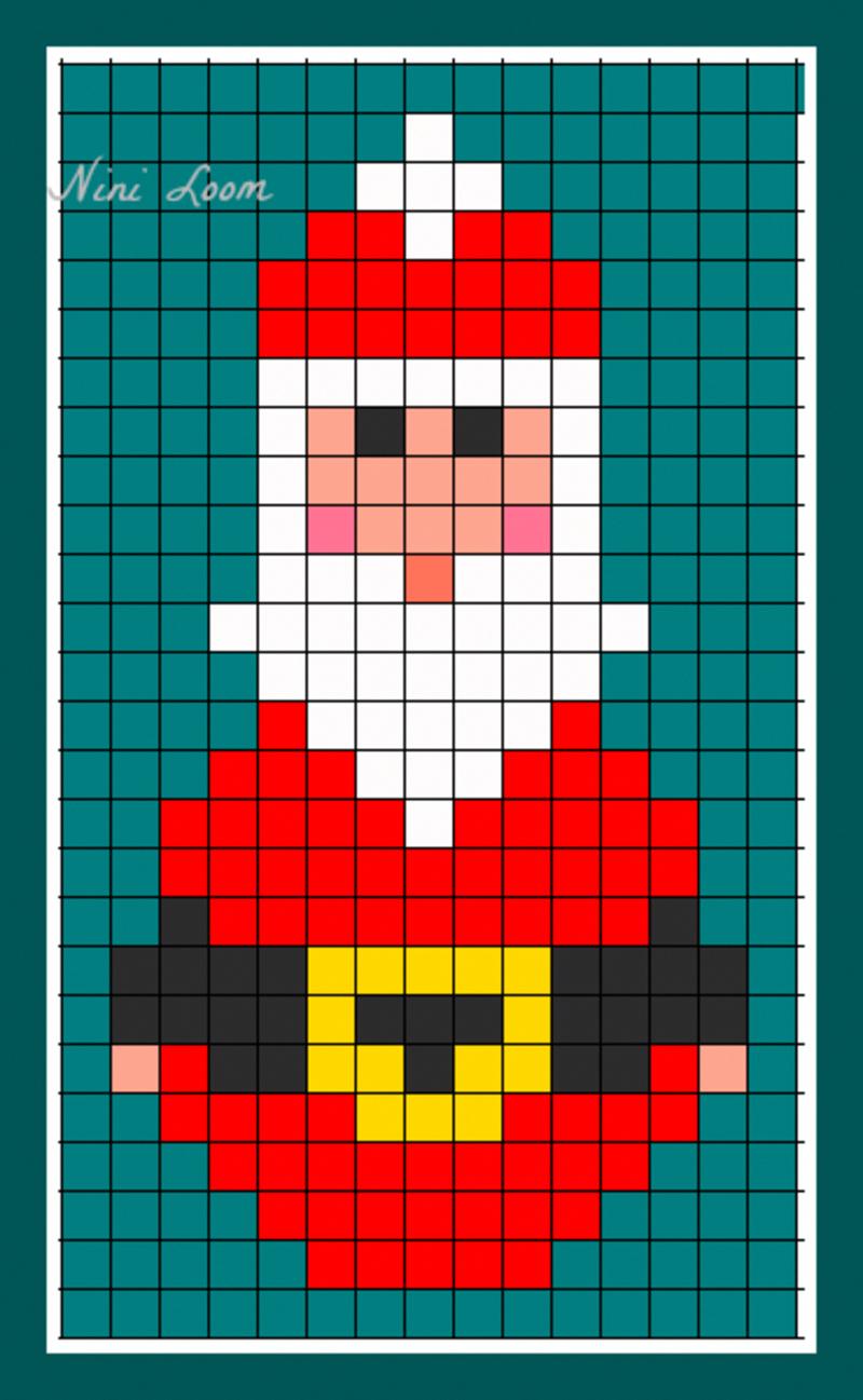 Bricolagefacilenoel | Pixel Art Noel, Theme Noel Et Dessin intérieur Pixel Art Pere Noel