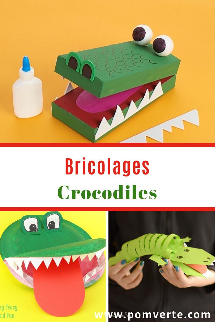 Bricolages De Crocodile En Papier Construction, Rouleau pour Photo De Crocodile A Imprimer