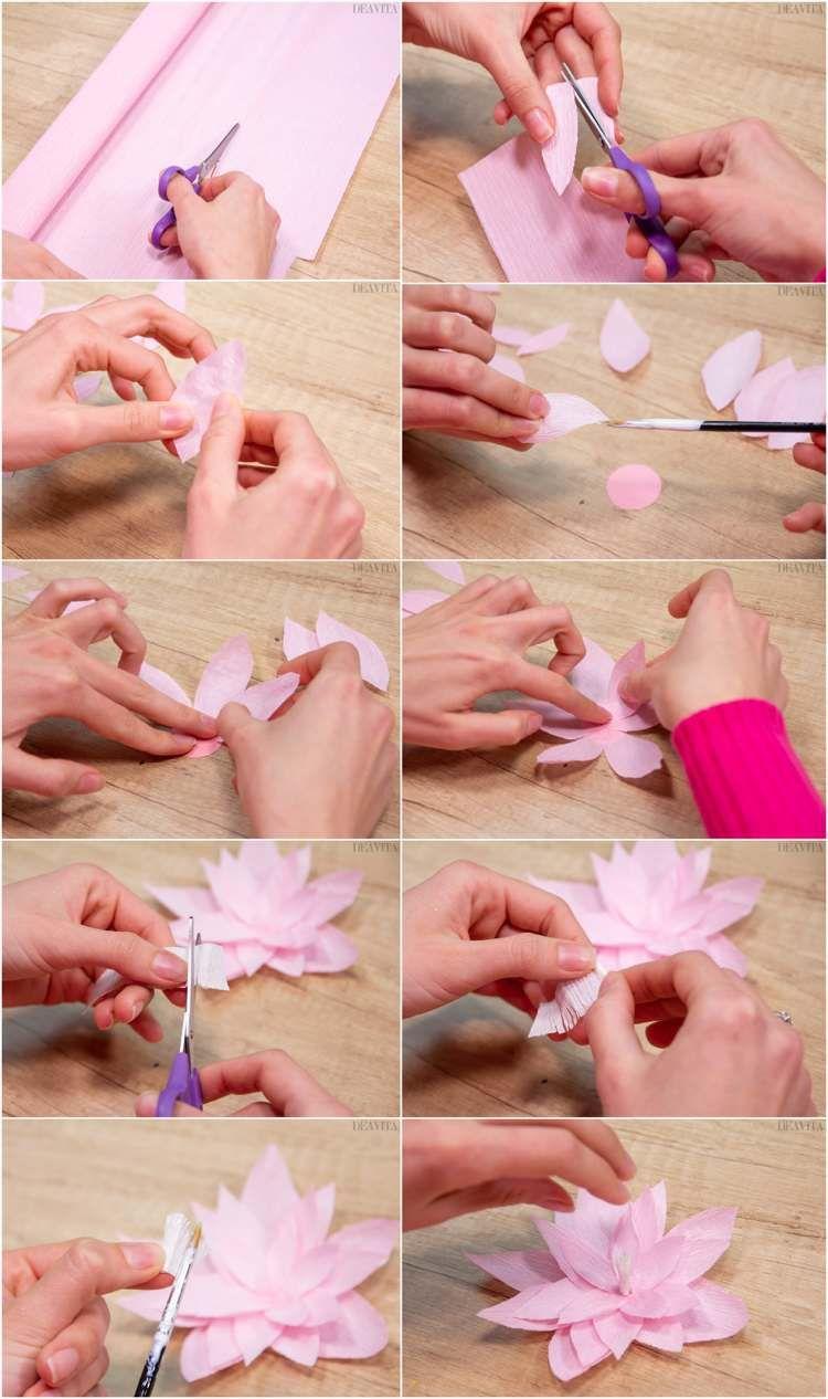 Bricolages En Papier Et Rouleaux En Carton: 10 Projets Avec dedans Realisation Papier Crepon