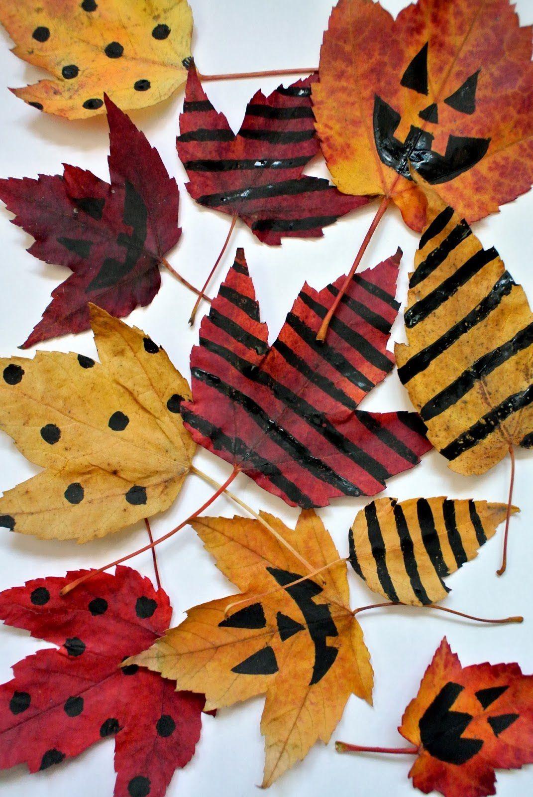 Bricolages: Feuilles Décoratives D'halloween Ms-Gs-Cp-Ce1 intérieur Halloween Ce2