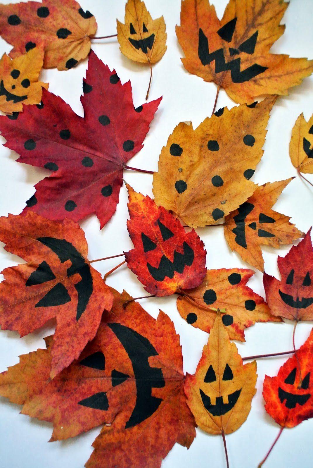Bricolages: Feuilles Décoratives D'halloween Ms-Gs-Cp-Ce1 pour Halloween Ce2