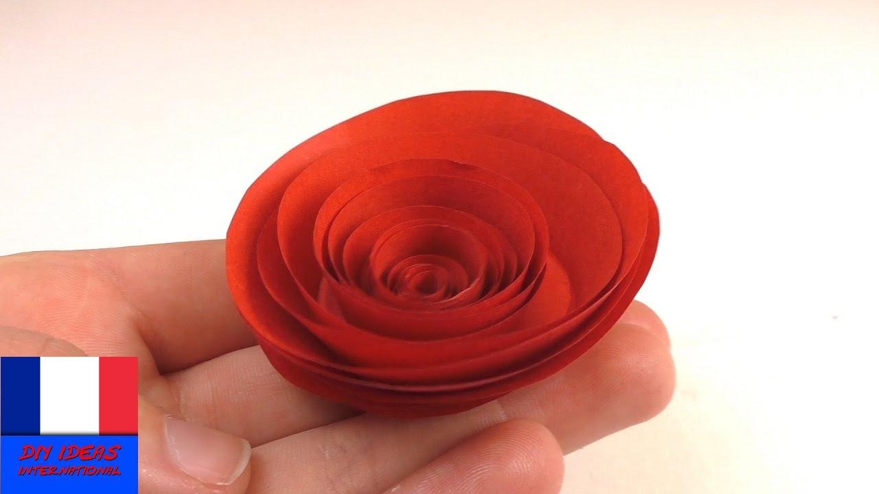 Bricoler Une Rose Rouge En Papier | Rose En Papier Simple Et Rapide À Faire  Pour La Saint-Valentin serapportantà Origami Rose Facile A Faire