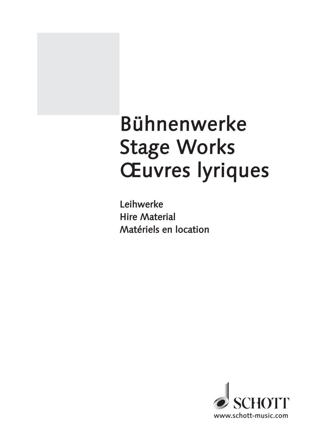 Bühnenwerke / Stage Works / Œuvres Lyriques By Schott Music dedans Chiffres Espagnol 1 À 1000