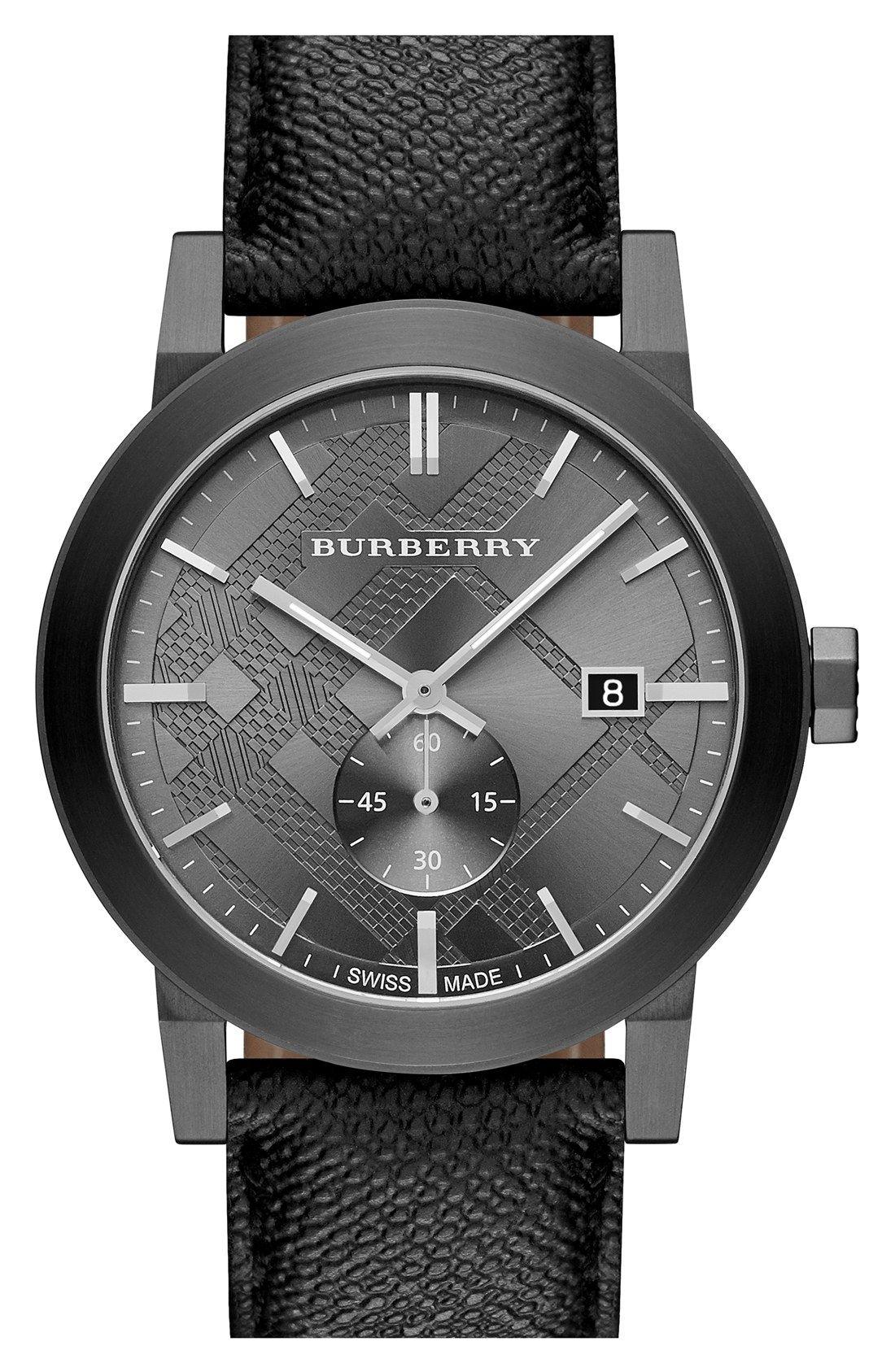 Burberry Check Stamped Dial & Strap Watch, 42Mm | Montre Et dedans Monsieur Le Montre