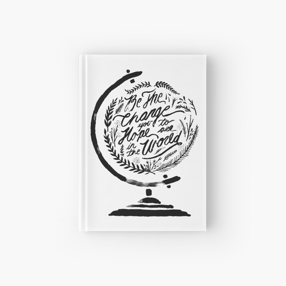 Cahier À Spirale « Mappemonde Globe Quote - Édition 2019 intérieur Dessin Mappemonde