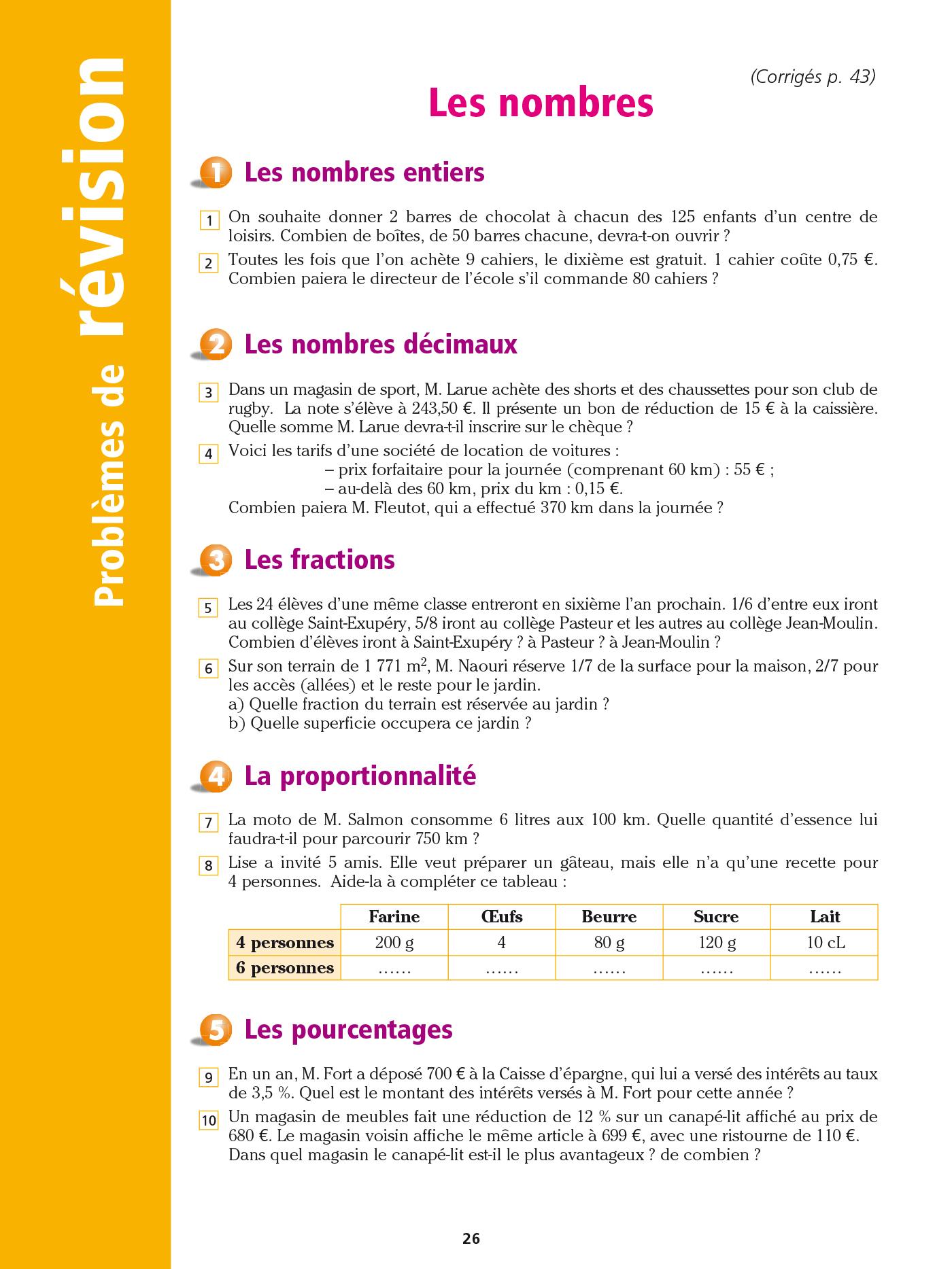 Cahier Bled - Problèmes De Maths Cm2 | Hachette Education intérieur Exercice Cm2 Gratuit