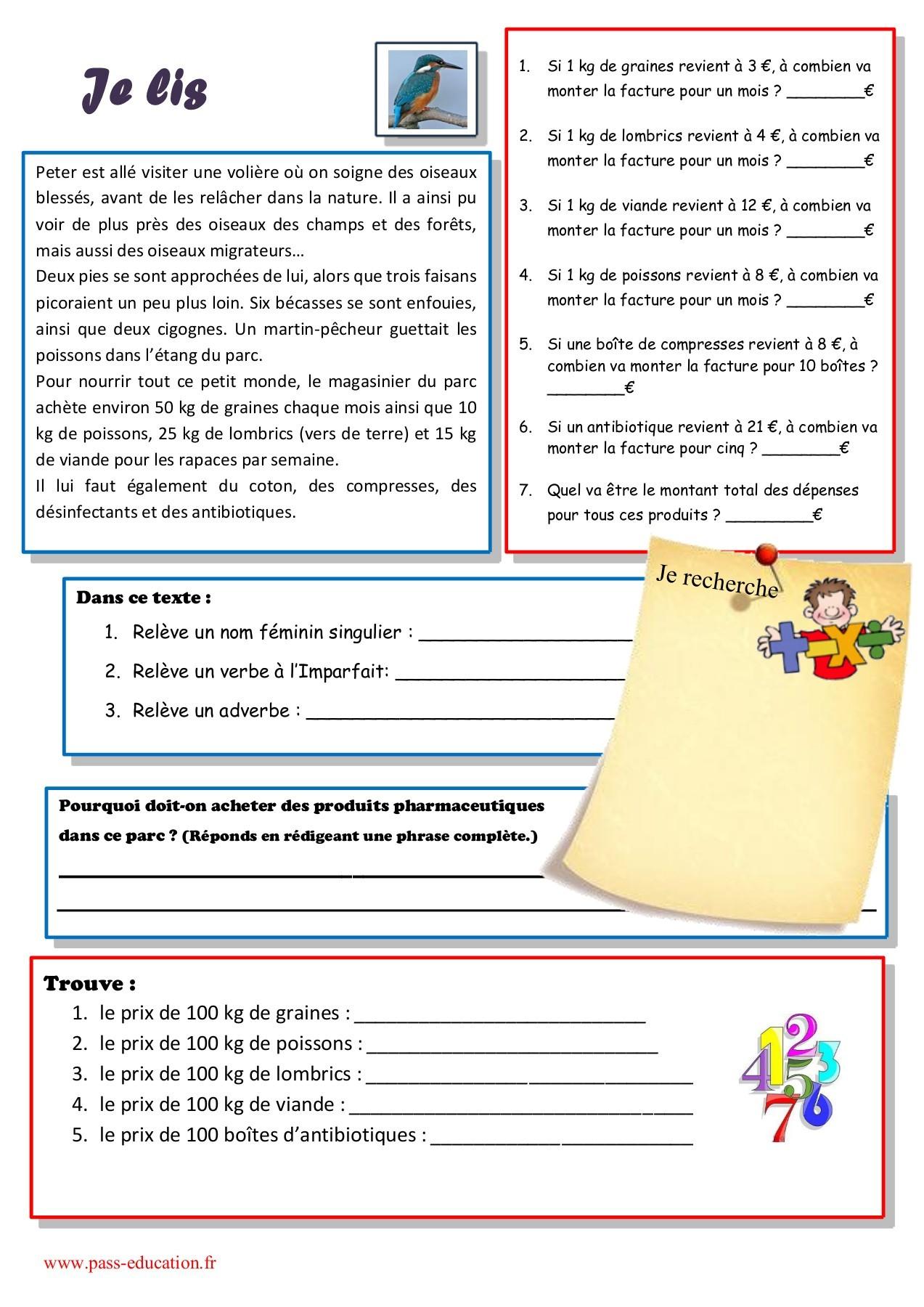 Cahier De Vacances Gratuit À Imprimer - Cm2 Vers La 6Ème pour Exercice Cm2 Gratuit