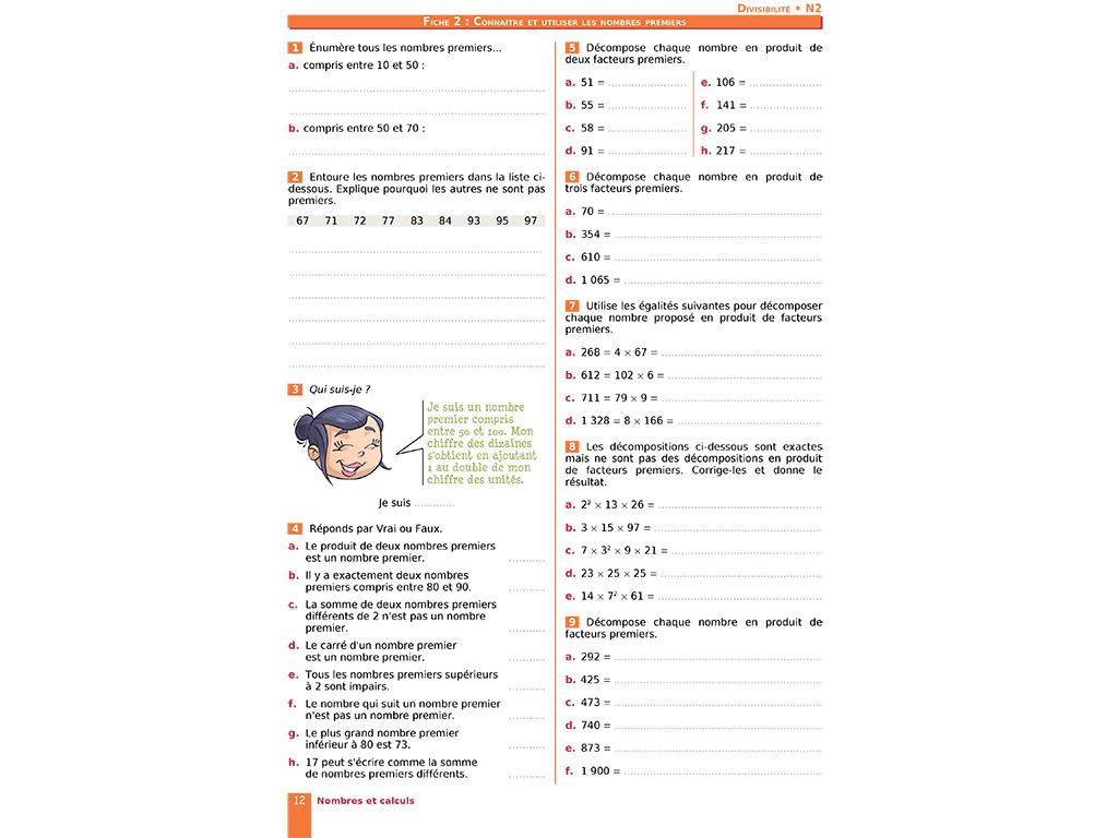 Cahier D'exercices Iparcours Maths 4E (Éd. 2019) destiné Exercice Cm2 Gratuit