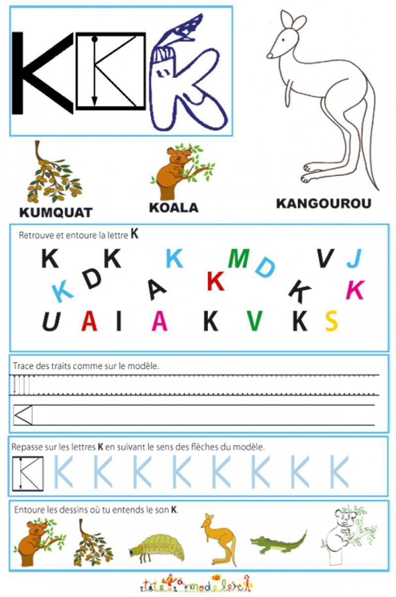 Cahier Maternelle : Cahier Maternelle Des Lettres De L'alphabet tout Fiche D Exercice Grande Section A Imprimer