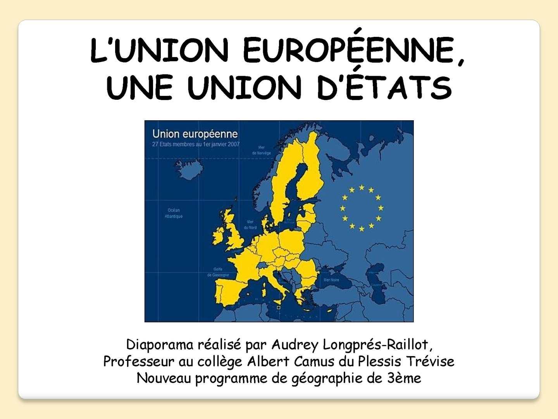 Calaméo - 3 1 L'ue, Une Union D'etats Nouveau Programme encequiconcerne Union Européenne Carte Vierge