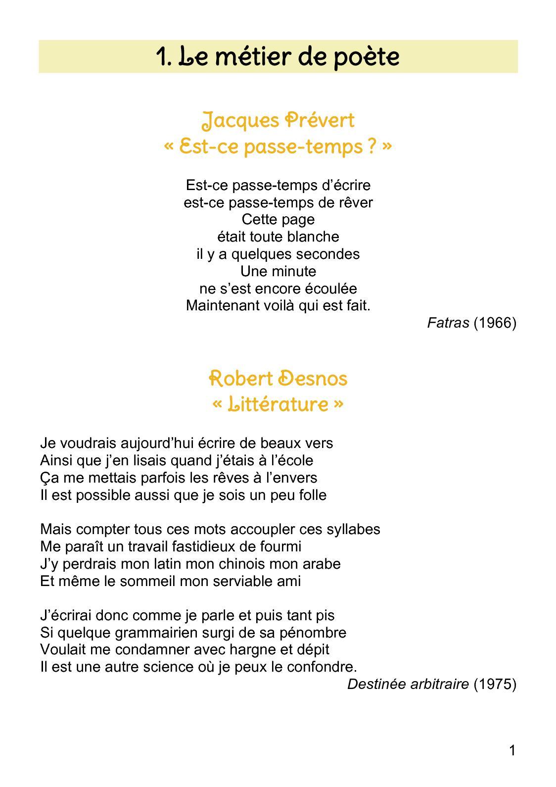 Calaméo - Anthologie Poétique 5E encequiconcerne Poème De Robert Desnos