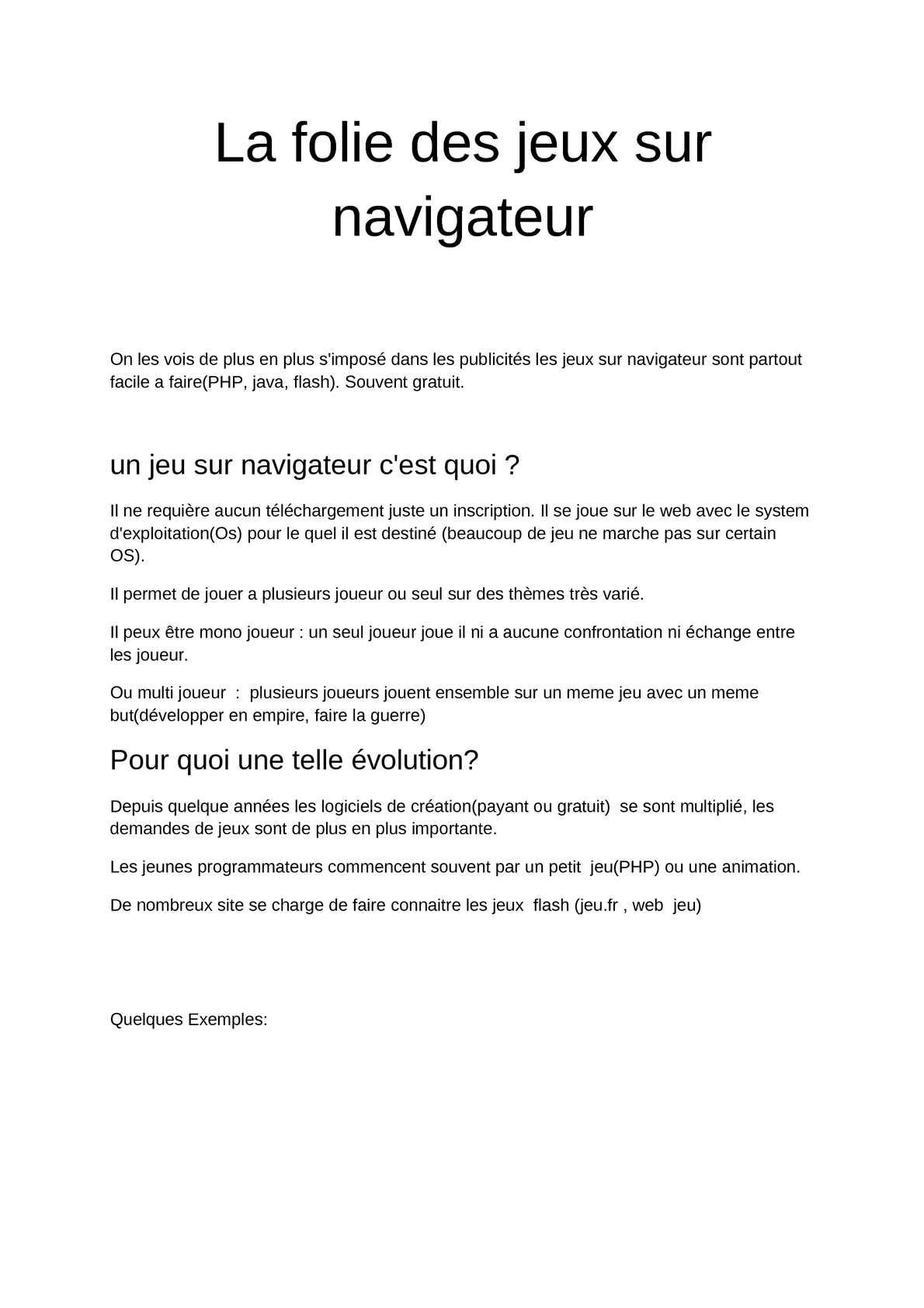 Calaméo - {Article}La Folie Des Jeux Sur Navigateur dedans Jeux Facile Pour Petit Gratuit