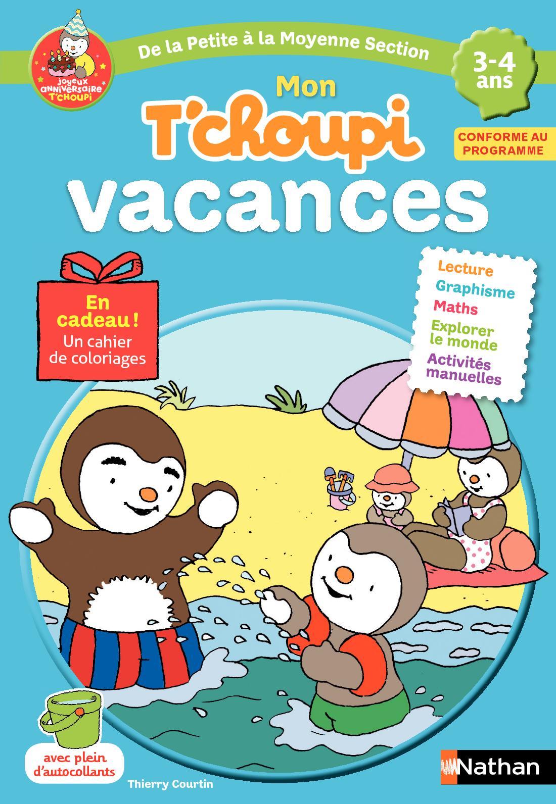 Calaméo - Cahier De Vacances T'choupi - Ps Vers Ms pour Tchoupi Au Marché
